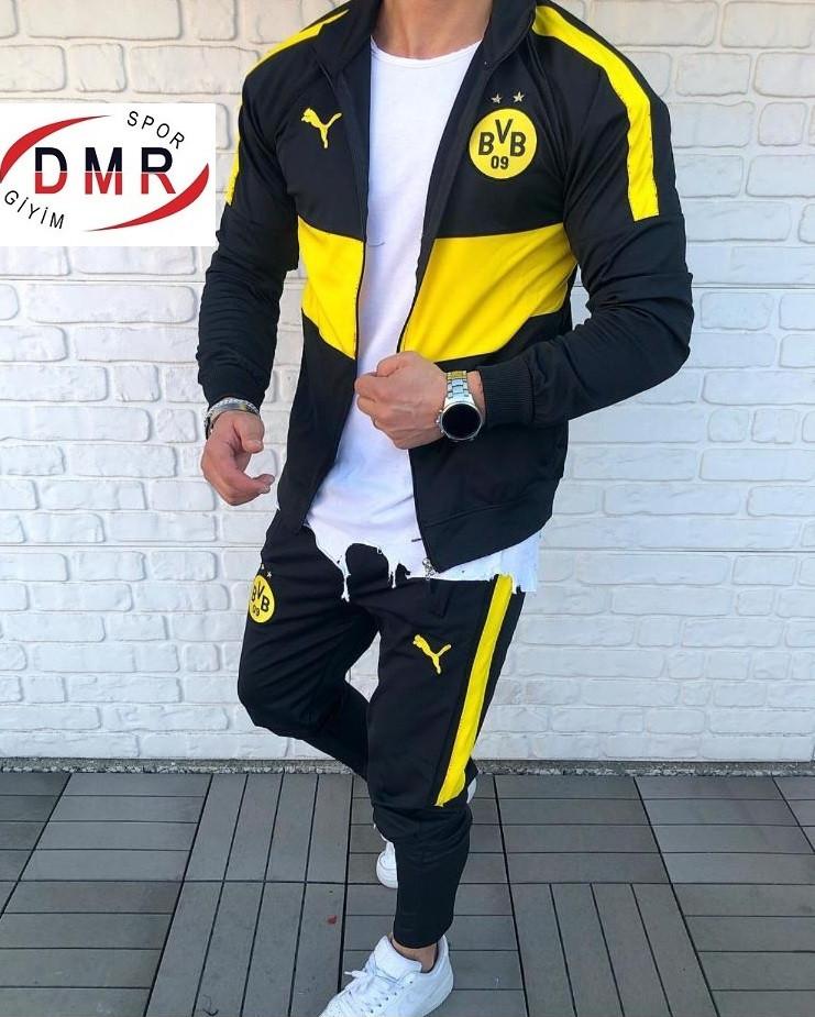 Мужской спортивный костюм черно - желтый