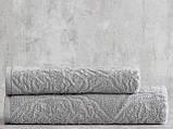 Набор махровых полотенец ( 50*85, 75*150 ) TM Pavia Турция Carina gri, фото 2