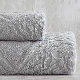 Набор махровых полотенец ( 50*85, 75*150 ) TM Pavia Турция Carina gri, фото 3