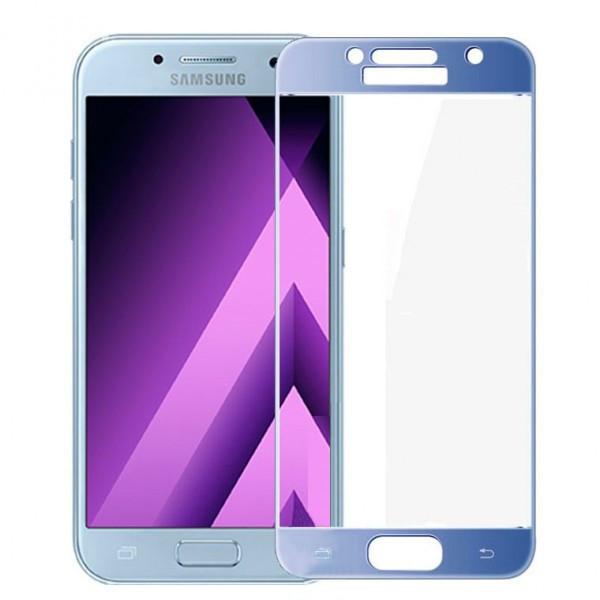 Защитное стекло весь экран Samsung A320 (2017) face (blue)