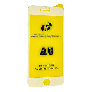 Защитное стекло  весь экран matt AG for Apple iPhone 7/8 Plus front (white)