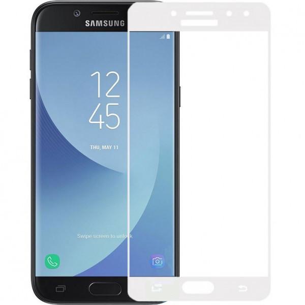 Защитное стекло весь экран Samsung J730 (2017) face (white)