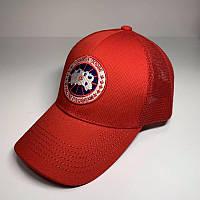 Бейсболка унисекс Canada Goose реплика Красная с сеткой