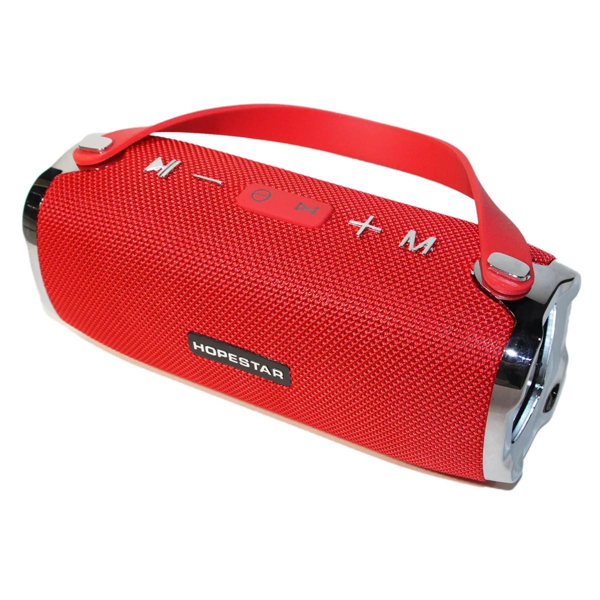 Портативная акустическая Bluetooth колонка Hopestar H24 (Красная)