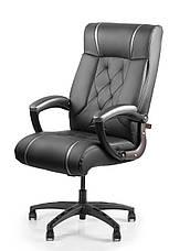 Кресло для работы дома Barsky BD-01 Design PU blaсk, кресло ПУ, черный, фото 2