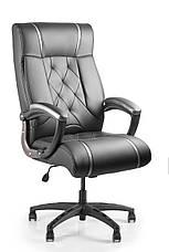 Кресло для работы дома Barsky BD-01 Design PU blaсk, кресло ПУ, черный, фото 3