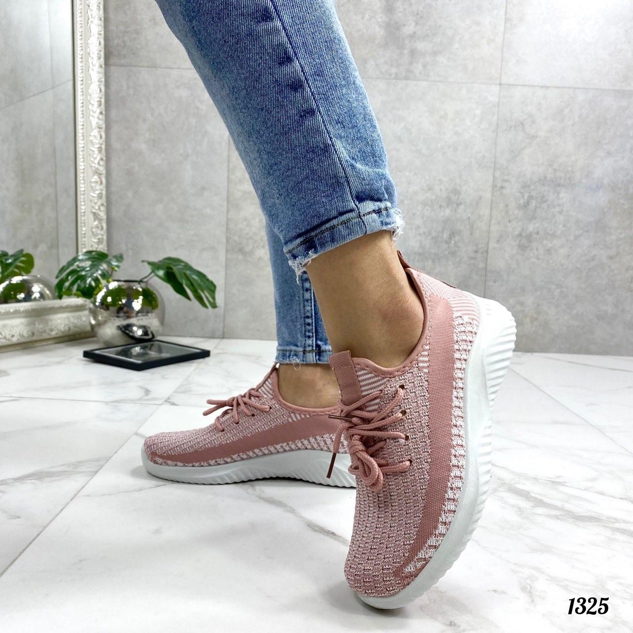 Кроссовки носочки розовые сеточка