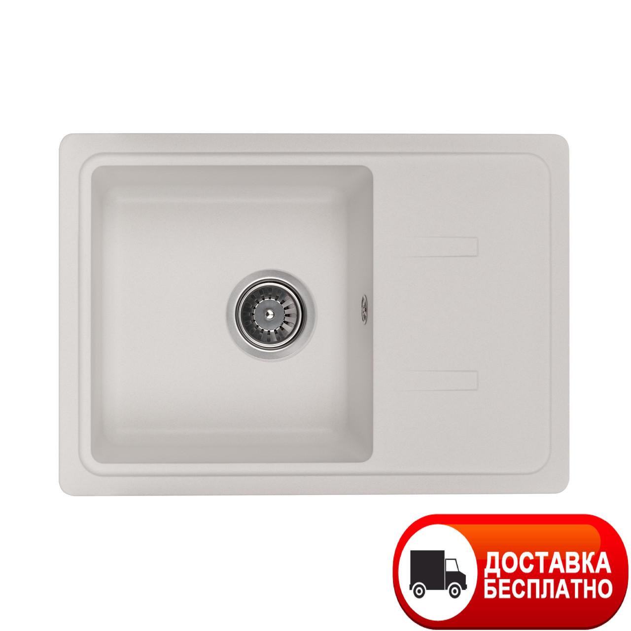 Кухонная гранитная мойка Granado PALMA white 62*44