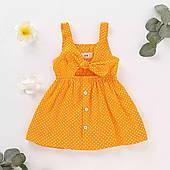 Літнє плаття для дівчинки в горошок
