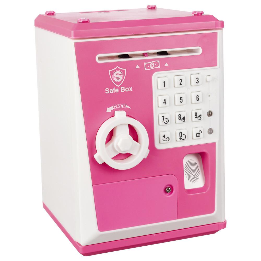 Детская Сейф-Копилка Robot BodyGuard (с отпечатком пальца) Розовая