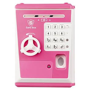 Детская Сейф-Копилка Robot BodyGuard (с отпечатком пальца) Розовая, фото 2