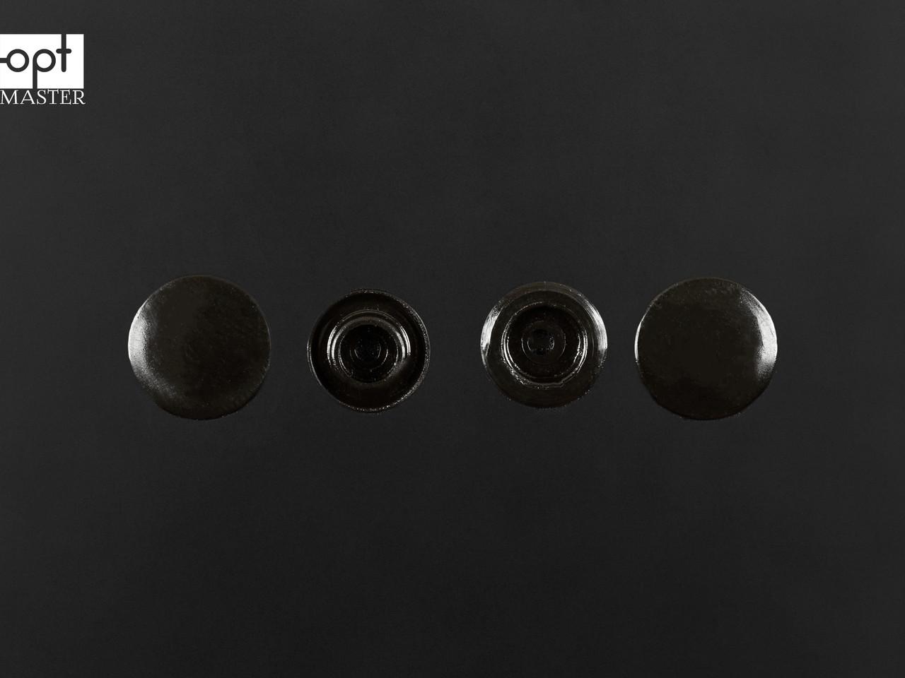 Кнопки пластик Т-5, 11,7 мм, цв. D19 чёрный (1000 шт / уп.)