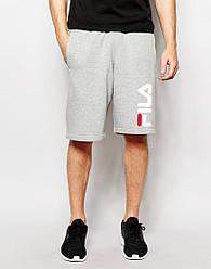 Мужские шорты FILA серые с принтом