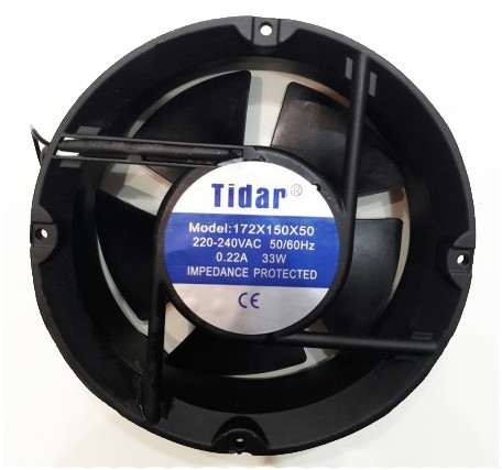 Универсальный осевой вентилятор Tidar 172×172×50мм, 220В, 0,22А (круглый)
