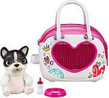 Little Live Pets OMG Интерактивный щенок собачка сквиш и переноска сумочка 28942 Squishy Puppy so Soft, фото 3