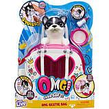 Little Live Pets OMG Интерактивный щенок собачка сквиш и переноска сумочка 28942 Squishy Puppy so Soft, фото 5