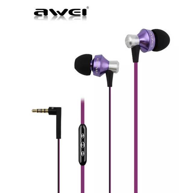 Наушники Awei S-950Vi вакуумные (Черно-фиолетовый)