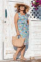Сукня жіноча на гудзиках великий розмір 8004 (50,52,54) СП