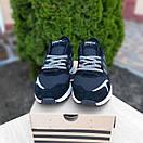 Мужские кроссовки в стиле Adidas  Nite Jogger чёрные на белой, фото 2