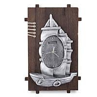 Часы настенные на деревянной основе 36x21см Парусник (44001.001)