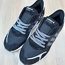Мужские кроссовки в стиле Adidas  Nite Jogger чёрные на белой, фото 8