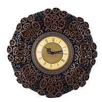Часы настенные под ореховый срез 30х30х4,5 см (44015.002)