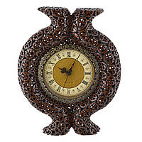 Часы настенные под ореховый срез с выступом 39х31х6 см (44016.001)