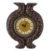 Годинник настінний під горіховий зріз з виступом 39х31х6 см (44016.001)