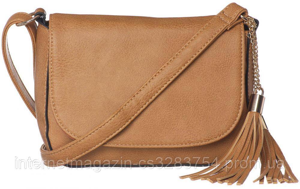 Женская сумка кросс-боди Adleys Светло-коричневая (FB1281)