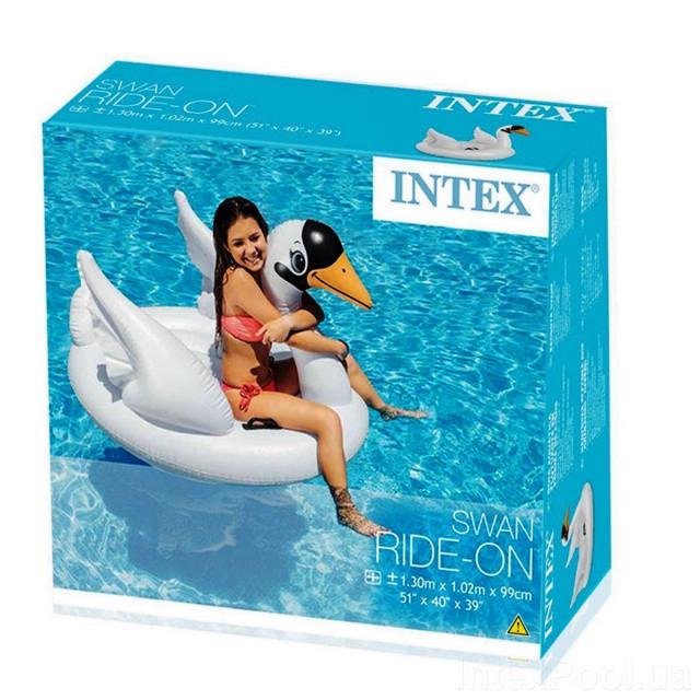 Надувной плотик Intex 57557, Белый лебедь