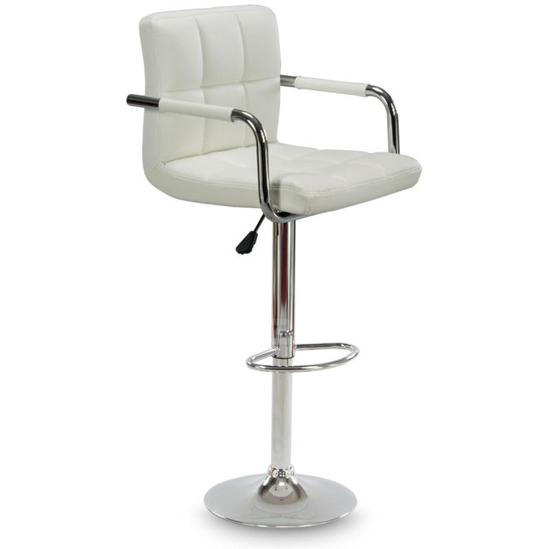 Барный стул Hoker ASTANA с подставкой для ног и регулировкой высоты сидения Белый