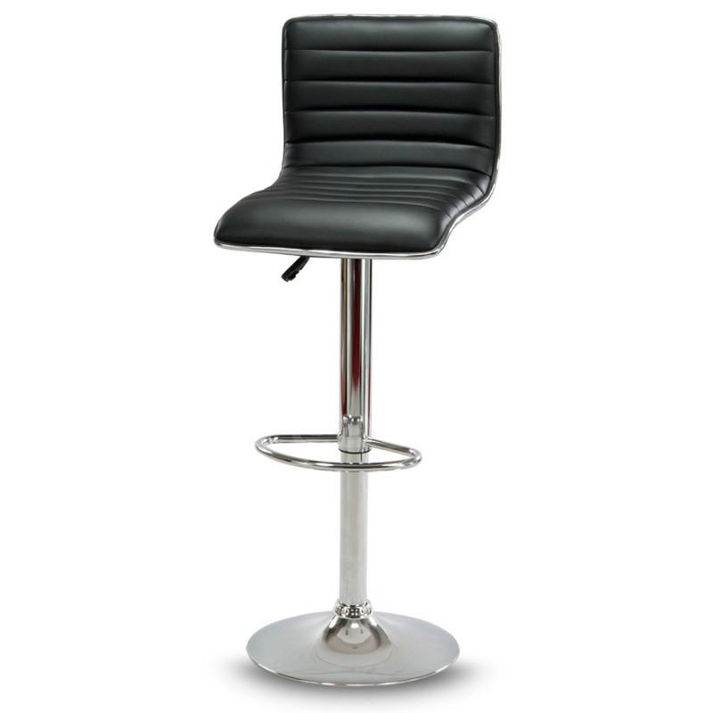 Барный стул Hoker ESTERO с подставкой для ног и регулировкой сидения по высоте Черный