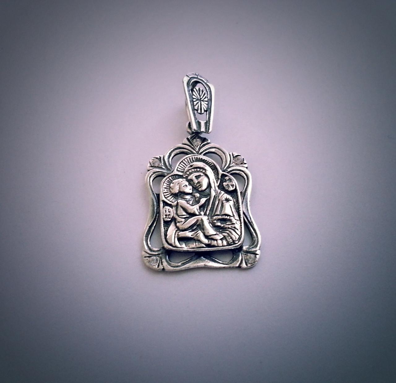"Серебряная ладанка ""Богородица"""