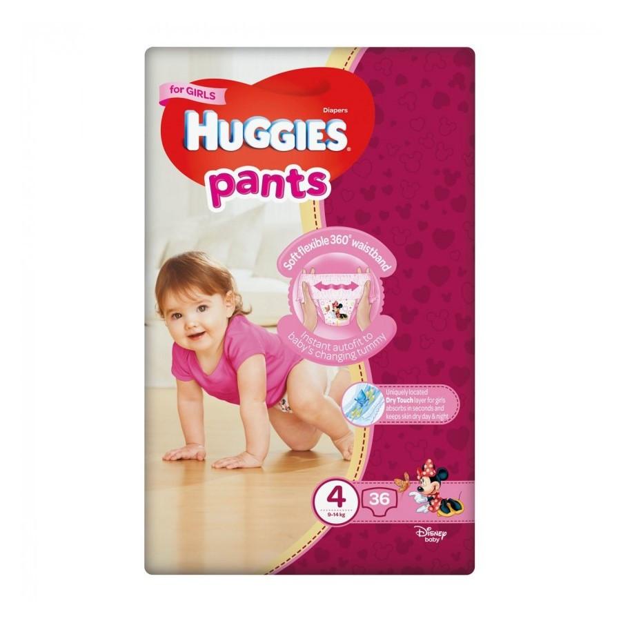Підгузки-трусики Huggies Pants для дівчаток 4 (9-14кг), 36шт