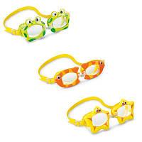 Очки для плавания детские Intex 55603, от 3 лет, 3 вида