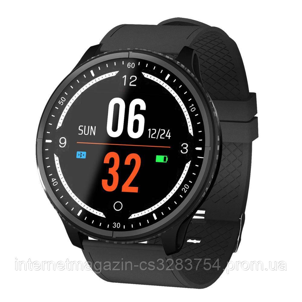 Умные часы Lemfo P69 с тонометром и защитой от воды Черный (swlemp69bl)