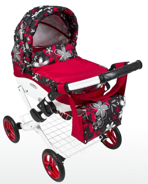 Лялькова коляска дитяча LILY TM Adbor складаний капюшон і сумка в комплекті (іграшкова)