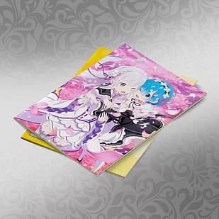 Скетчбук А5 кремовые листы Re Zero 30 листов