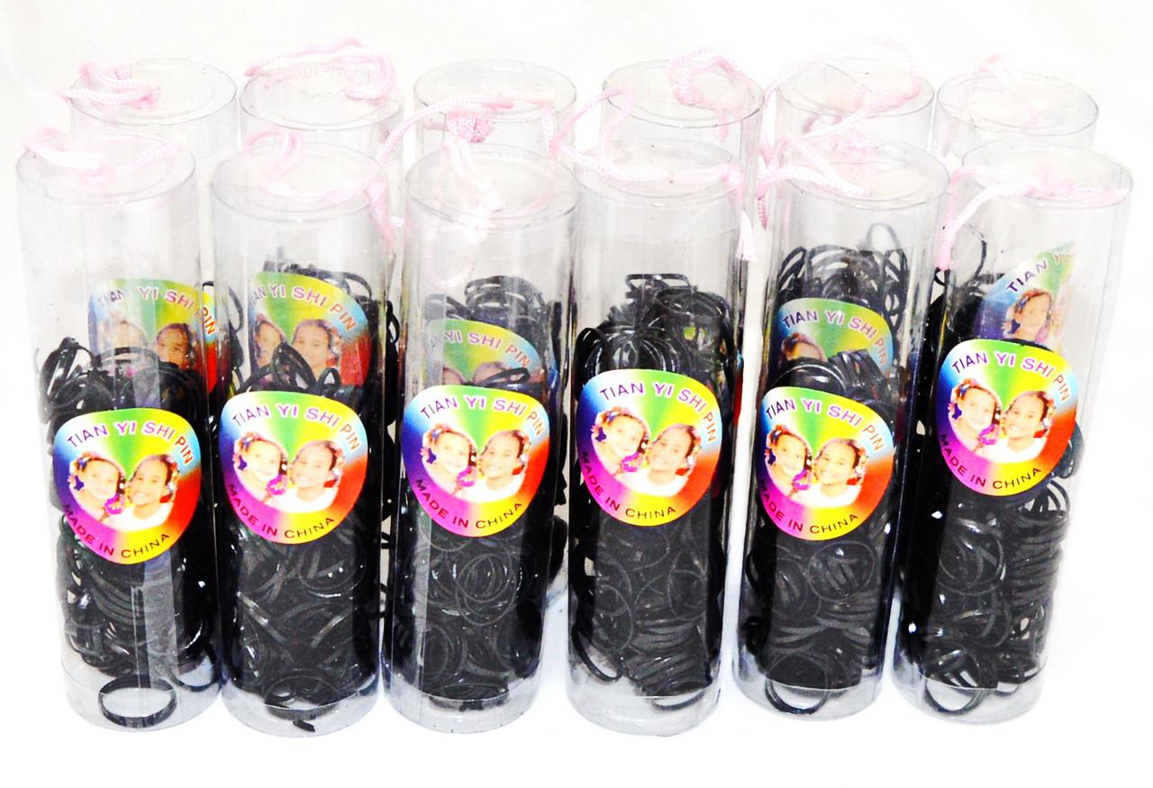 """Детские резиночки для волос """"силикон"""" чёрные"""