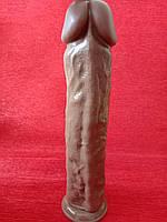 Шикарный фаллос на присоске 29 см диаметр 6 цвет телесный, фото 1
