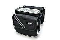 Велосумка на раму с отделением под смартфон черный камуфляж BRAVVOS QL-200