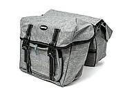 Велосумка штаны на багажник 35x28x14cm серый BRAVVOS F-091-2, водоотталк. материал