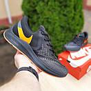 Мужские кроссовки в стиле Nike Zoom WINFLC 6 чёрные с оранжевым, фото 5