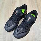 Мужские кроссовки в стиле Nike Zoom WINFLC 6 чёрные с оранжевым, фото 6