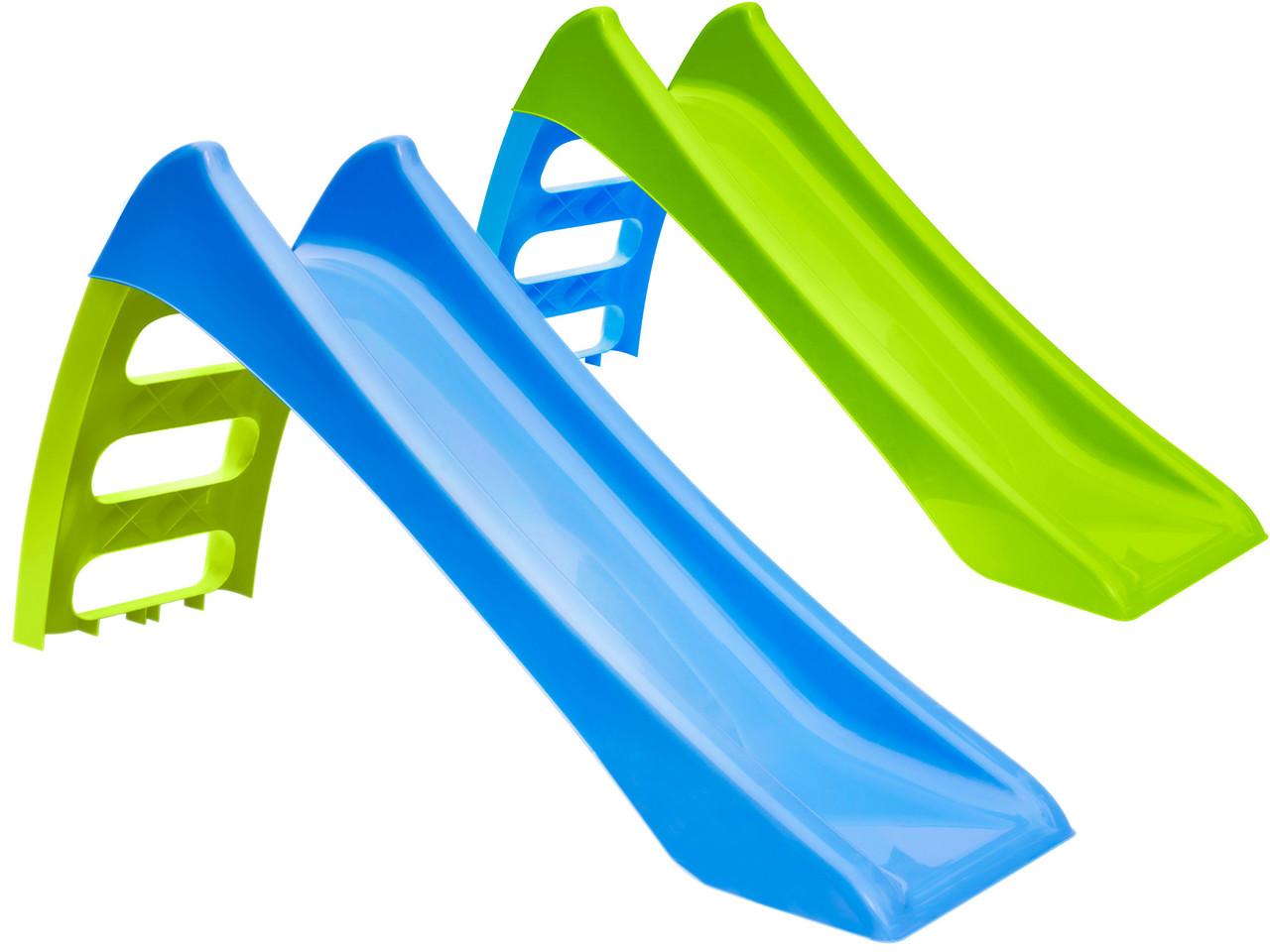 Горка детская игровая пластиковая MOCHTOYS 123см с лестницей (горка спуск)