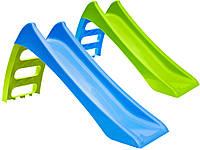 Горка детская игровая пластиковая MOCHTOYS 123см с лестницей (горка спуск), фото 1