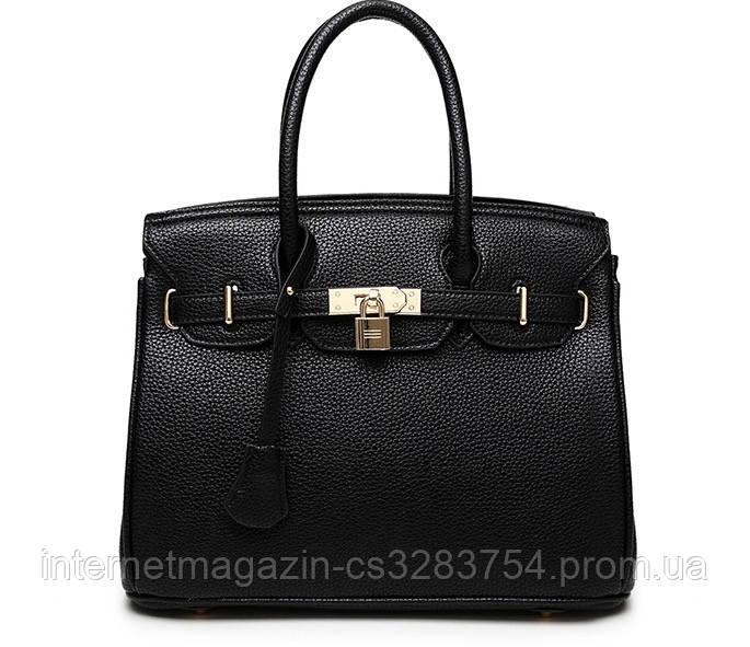 Женская классическая сумка Чёрная (LA-4)