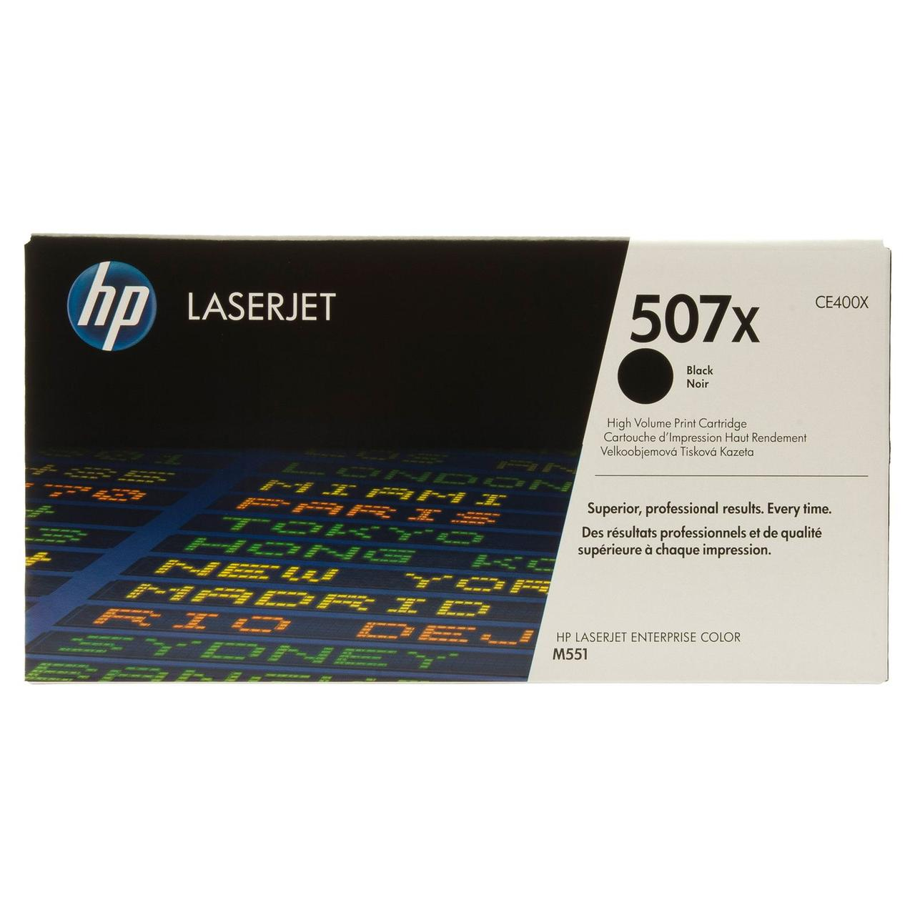 Тонер-картридж HP 507X CLJ M551/M570/M575 Black 11000 страниц
