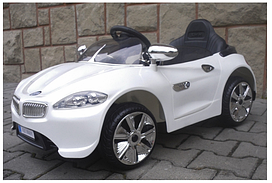 Дитячий електромобіль на акумуляторі Cabrio B3 (Білий) з пультом управління ( г )