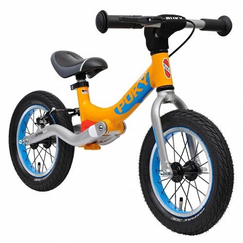 Велобег детский Puky LR Ride Br с амортизатором и ручным тормозом (беговел самокат-беговел)